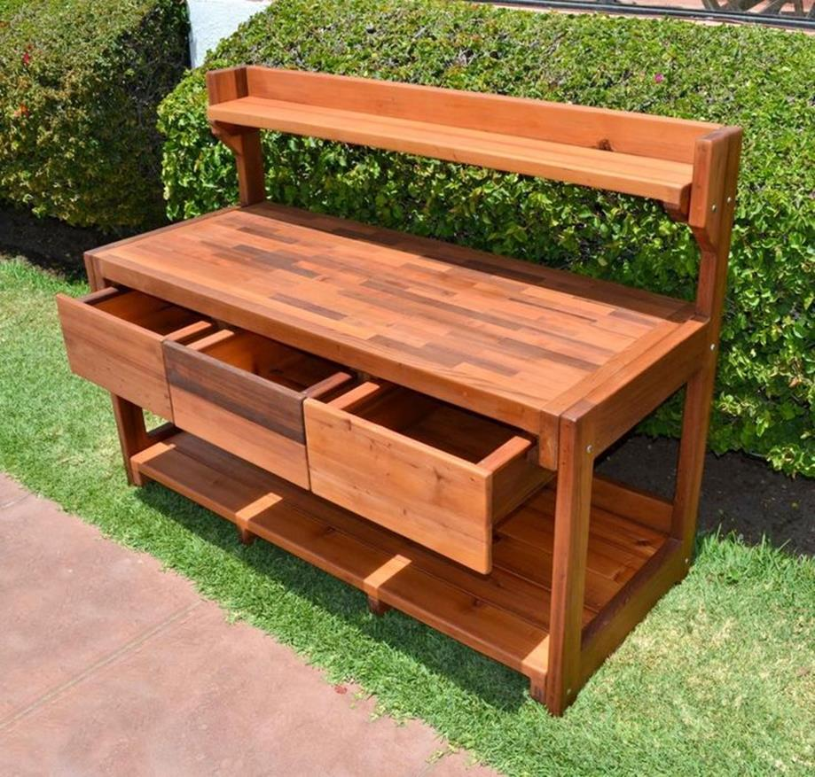 Outdoor Garden Potting Bench Design Ideas 1