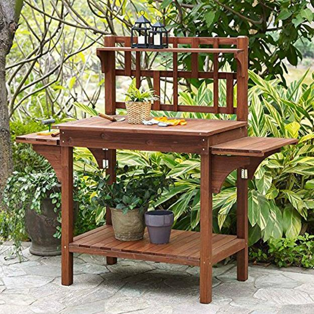 Outdoor Garden Potting Bench Design Ideas 7