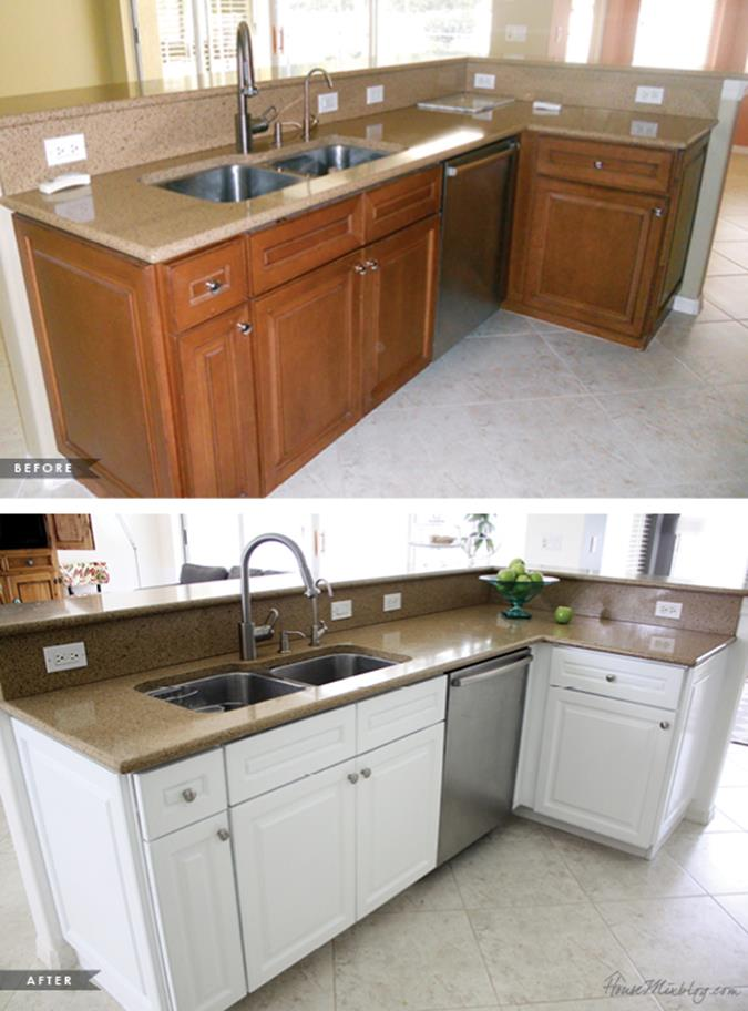 Painted Kitchen Cabinets Before And After 19