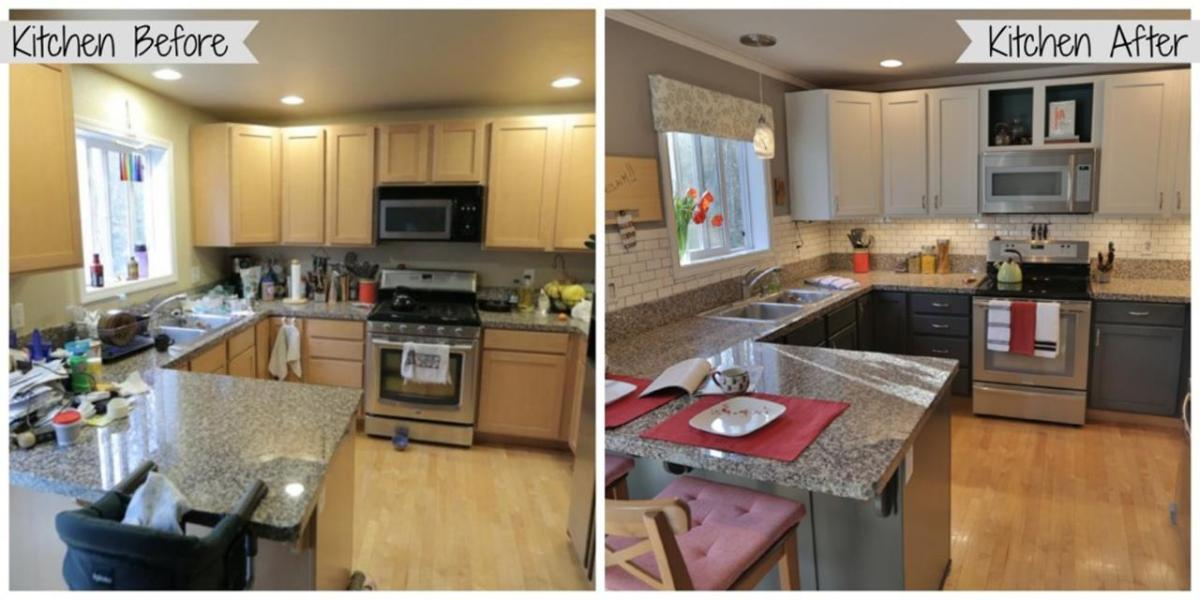 Painted Kitchen Cabinets Before And After 27