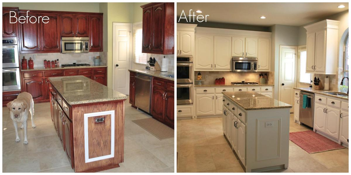 Painted Kitchen Cabinets Before And After 31