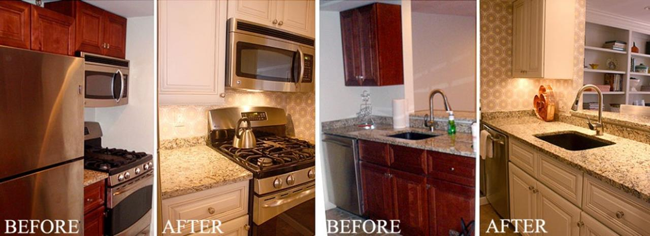 Painted Kitchen Cabinets Before And After 34