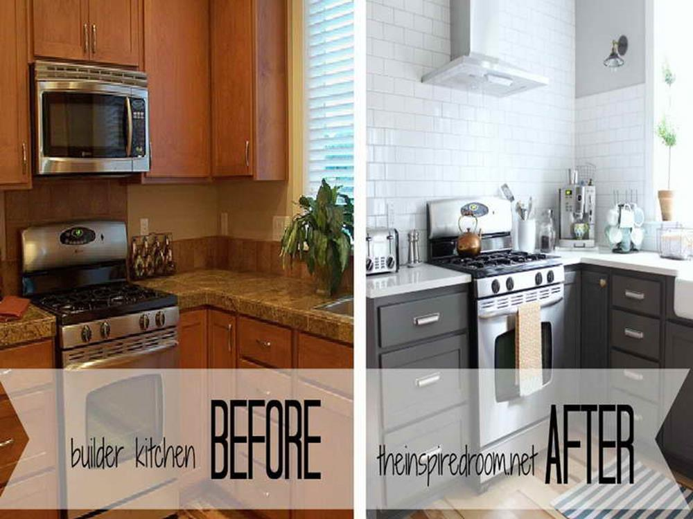 Painted Kitchen Cabinets Before And After 35