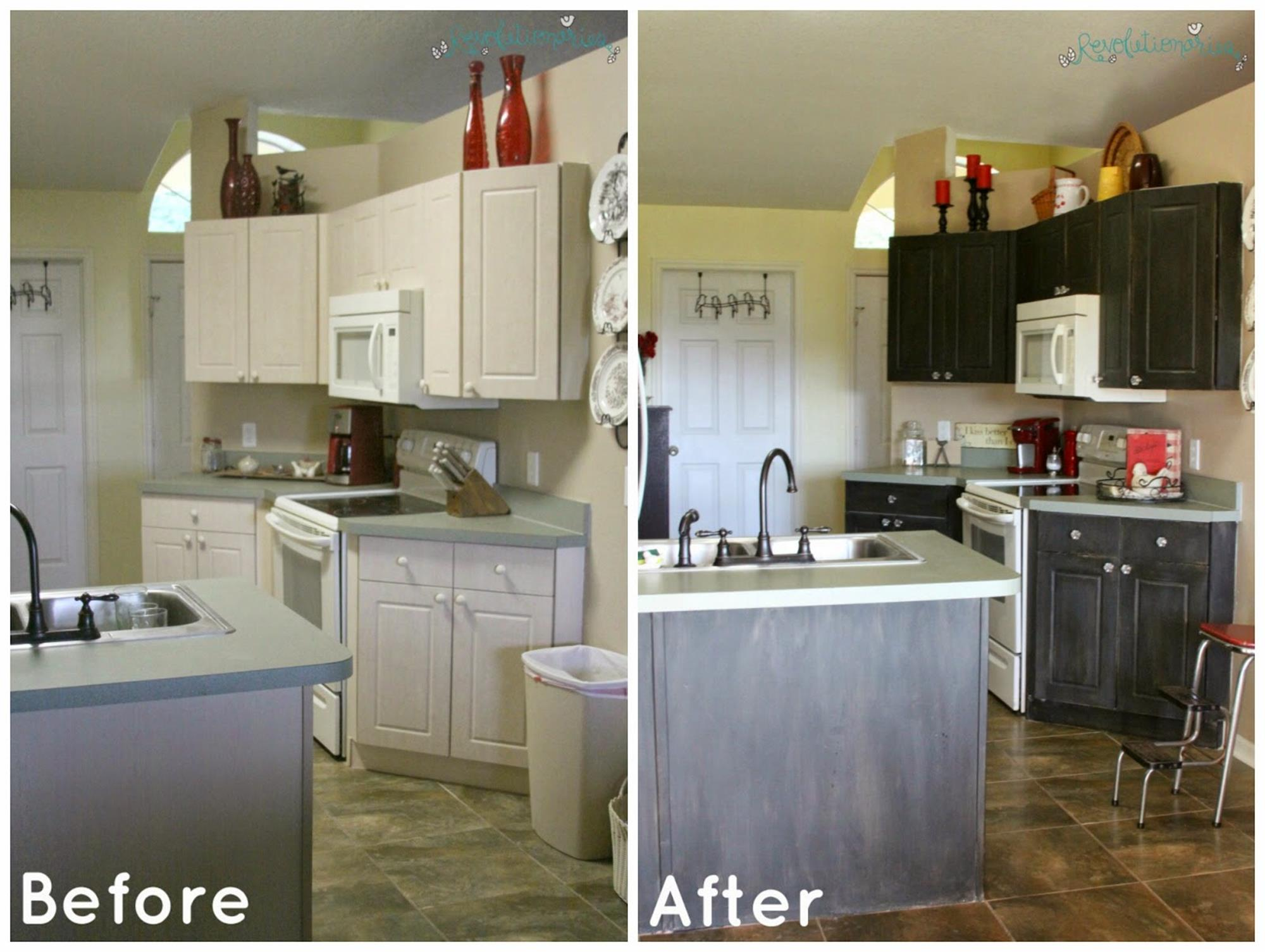 Painted Kitchen Cabinets Before And After 38