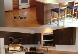 Painted Kitchen Cabinets Before And After 5