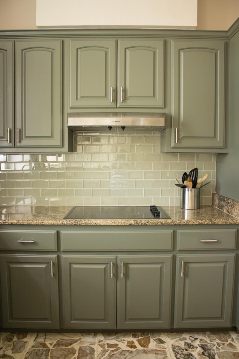 Painted Kitchen Cabinets Before And After 7