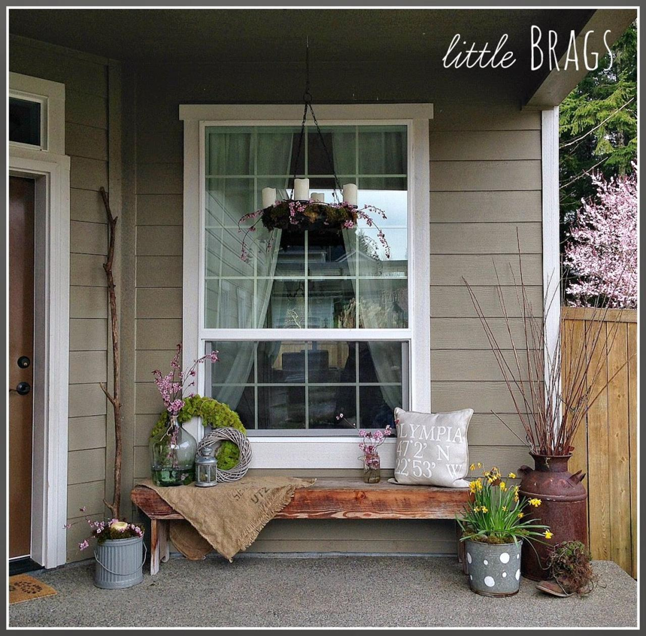 Country Front Porch Spring Decorating Ideas 15