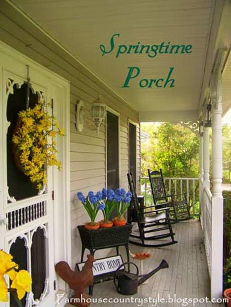 Country Front Porch Spring Decorating Ideas 25
