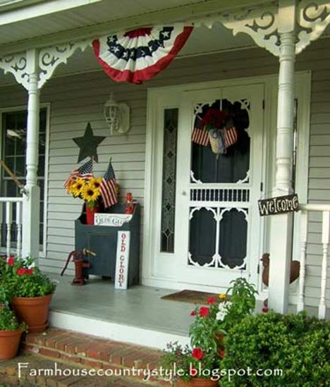 Country Front Porch Spring Decorating Ideas 26