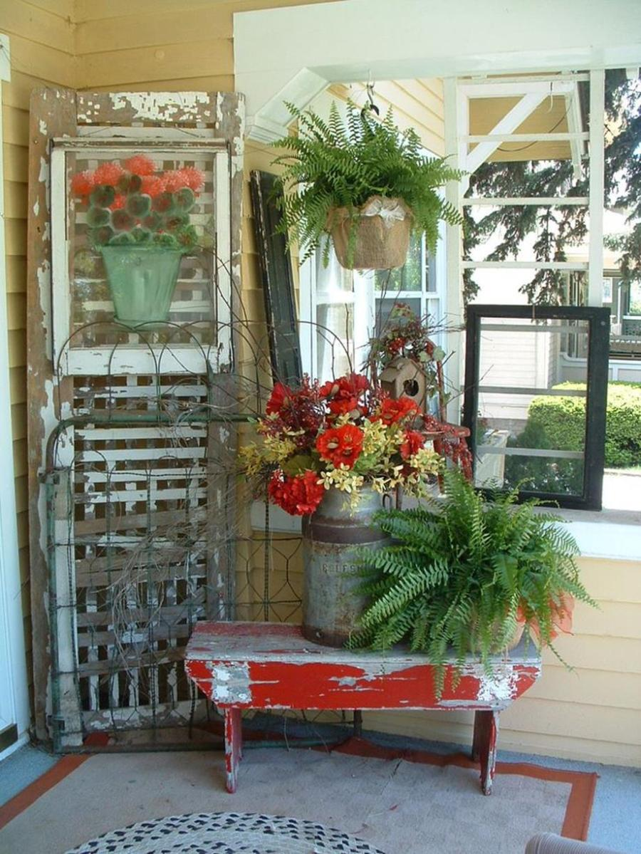 Country Front Porch Spring Decorating Ideas 30