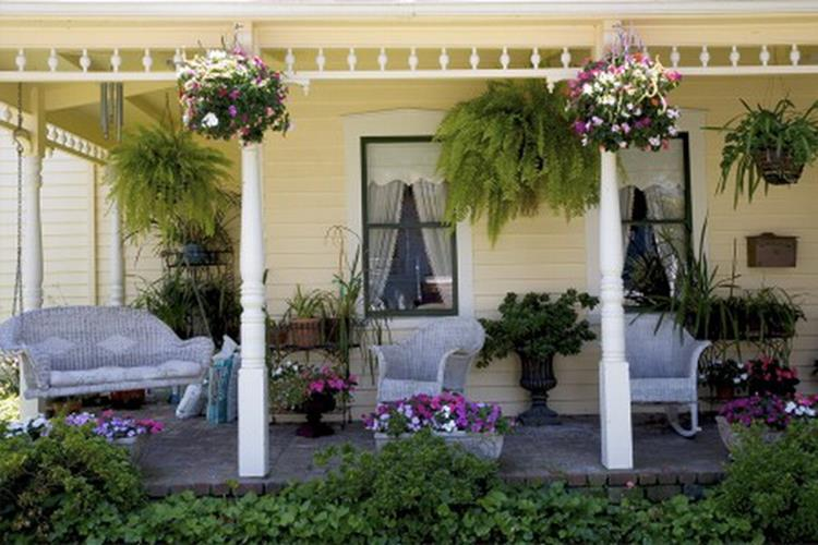 Country Front Porch Spring Decorating Ideas 35