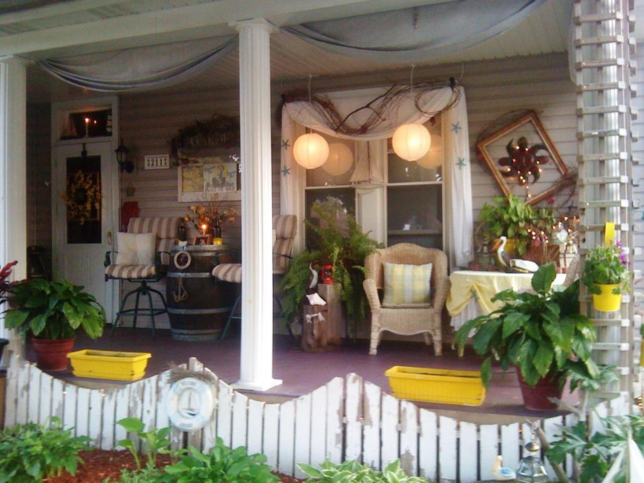 Country Front Porch Spring Decorating Ideas 36