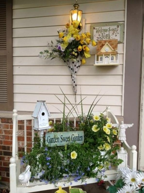 Country Front Porch Spring Decorating Ideas 38