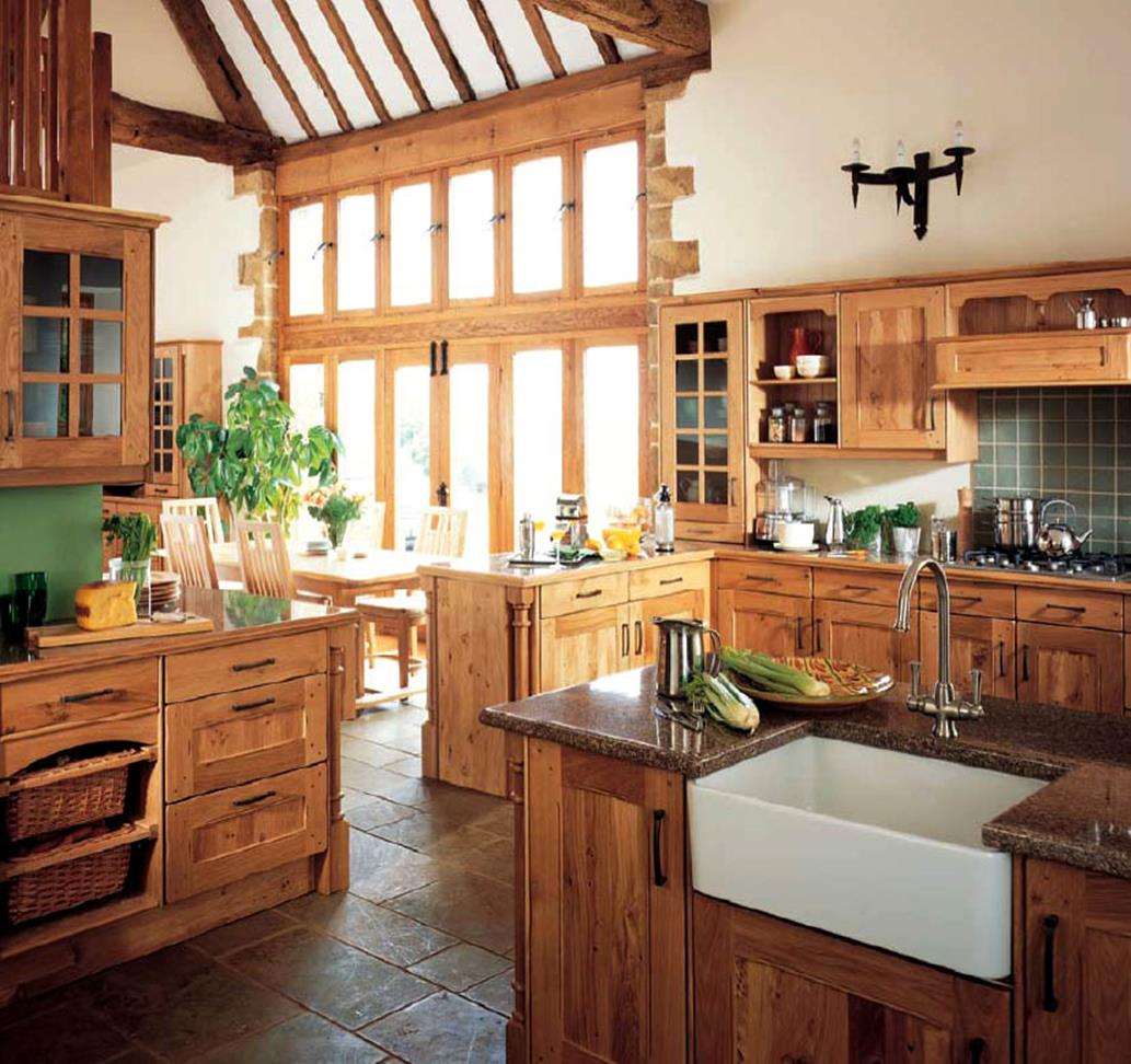 Country Style Kitchen Cabinets Design Ideas 13