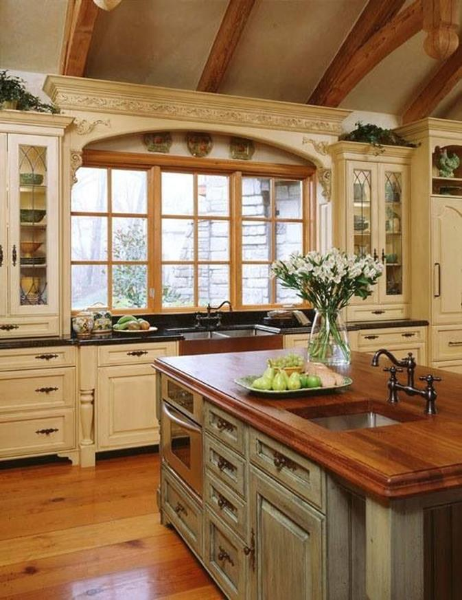 37 Stunning Country Style Kitchen Cabinets Design Ideas - DecoRelated