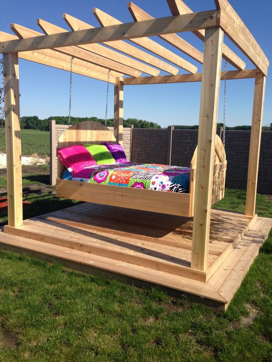 Diy Porch Swing Bed Ideas On A Budget 13