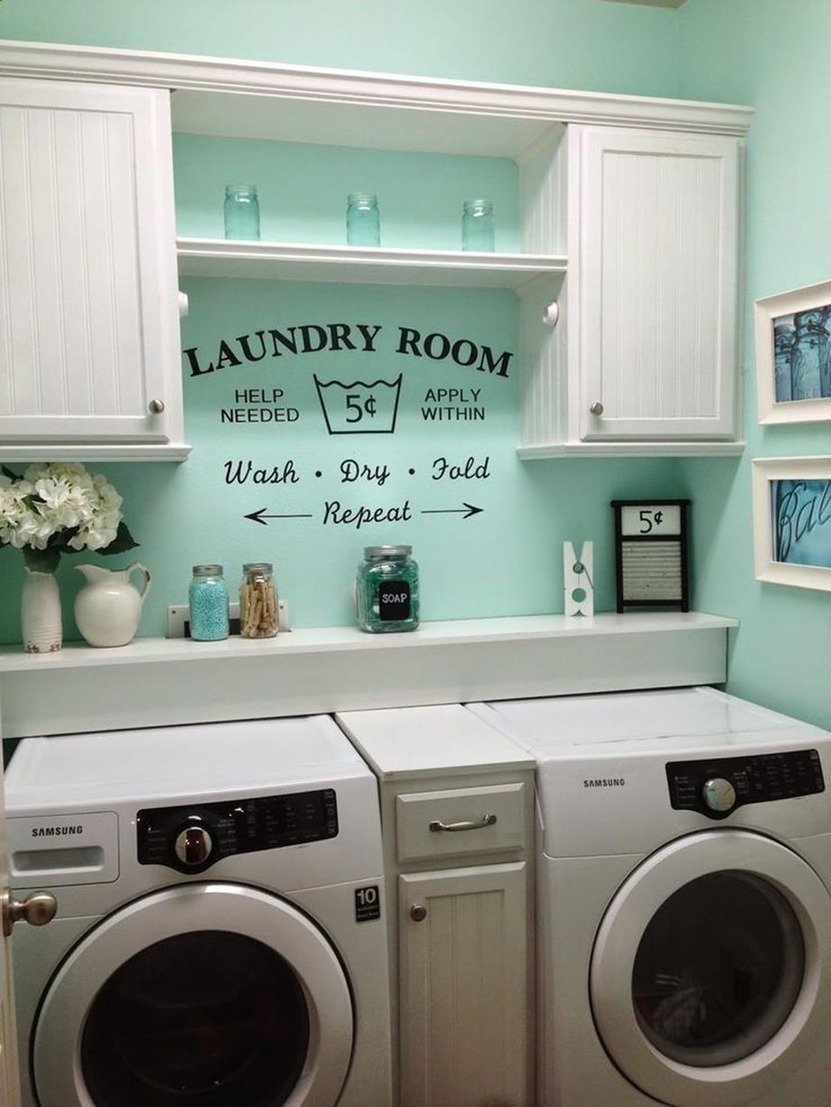Laundry Room Accessories Decorations Ideas 2