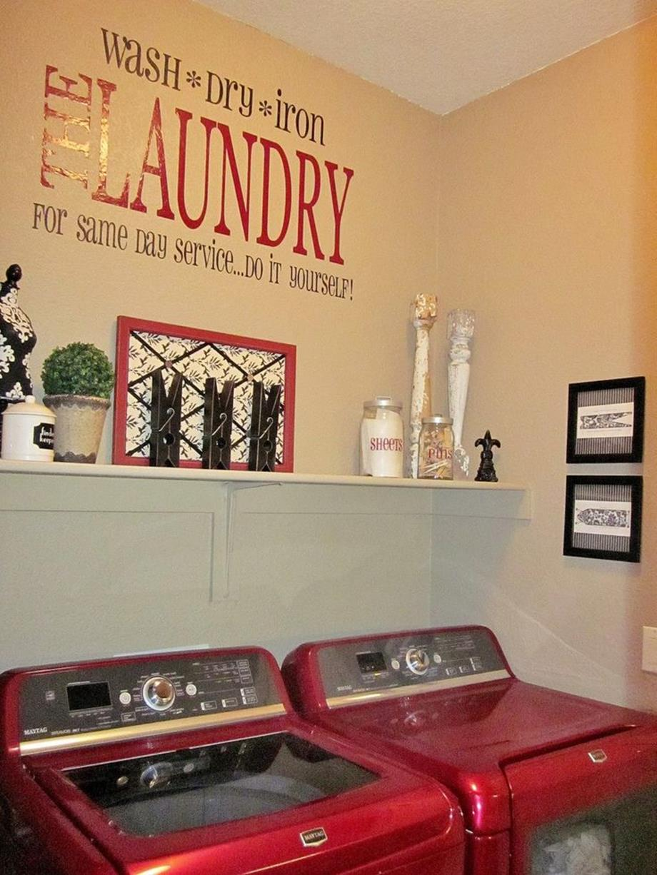 Laundry Room Accessories Decorations Ideas 7