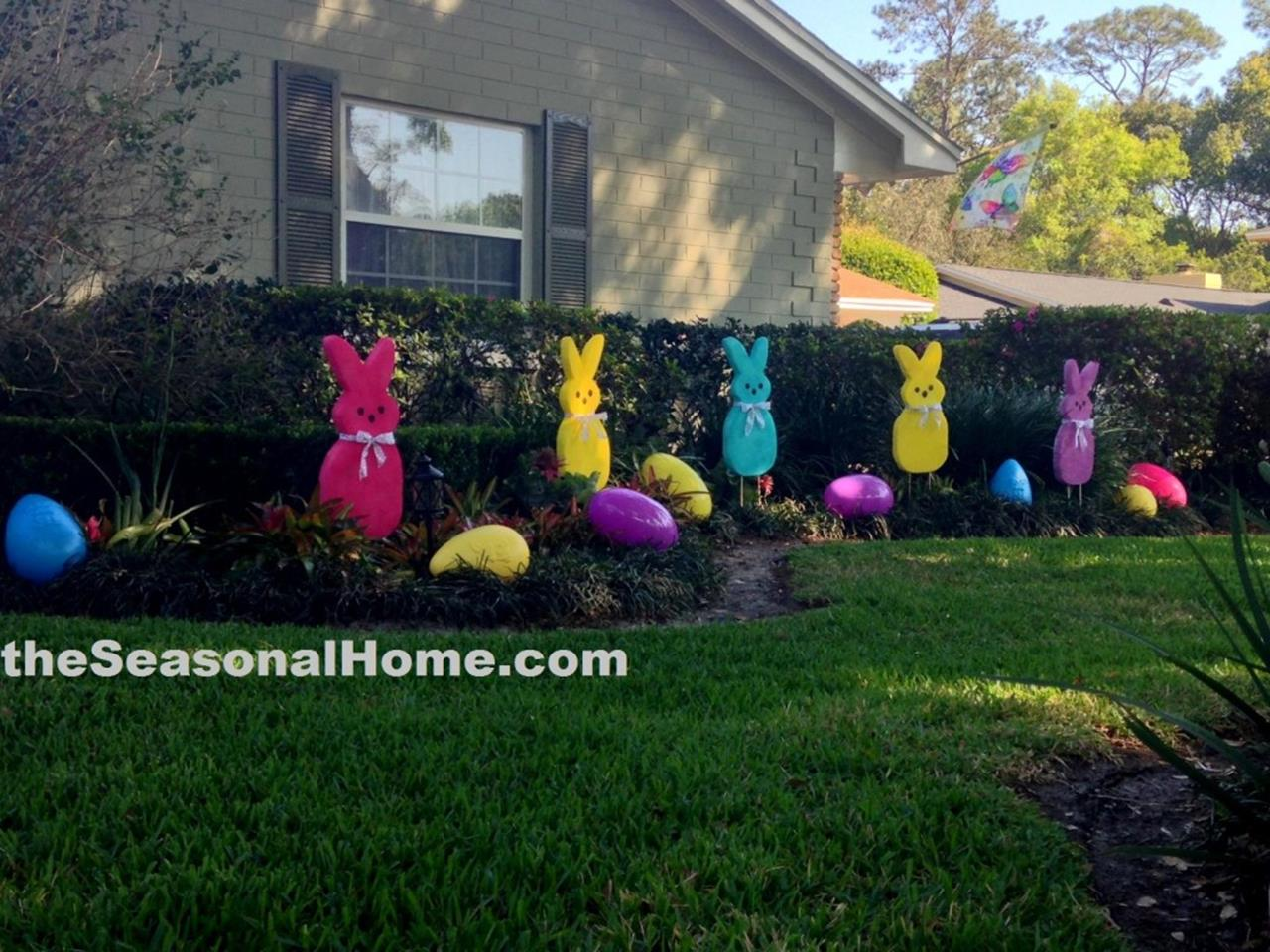 Cute Wooden Easter Decorations for the Outside 2