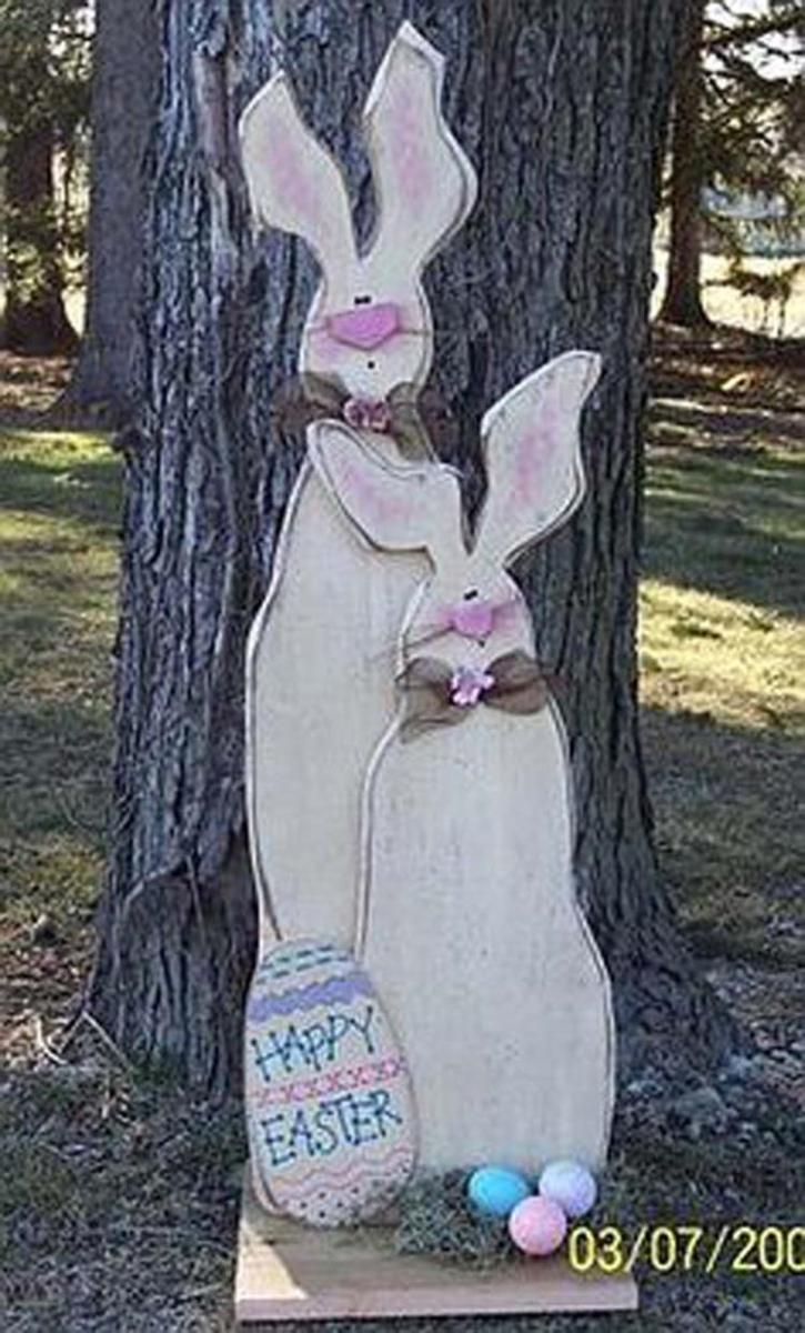 Cute Wooden Easter Decorations for the Outside 22