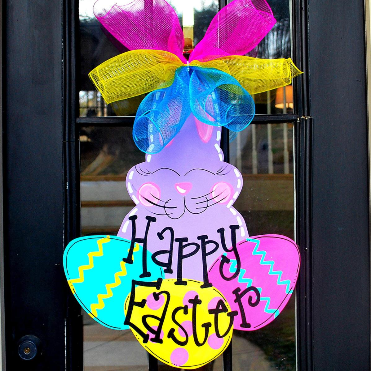Cute Wooden Easter Decorations for the Outside 31