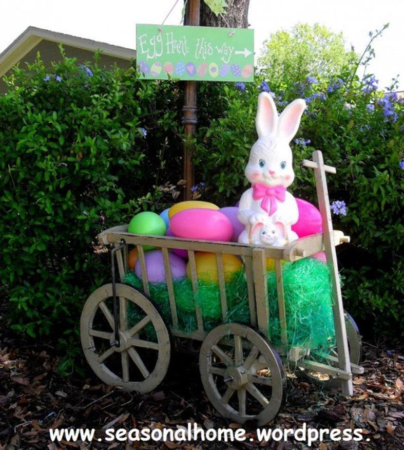 Cute Wooden Easter Decorations for the Outside 6