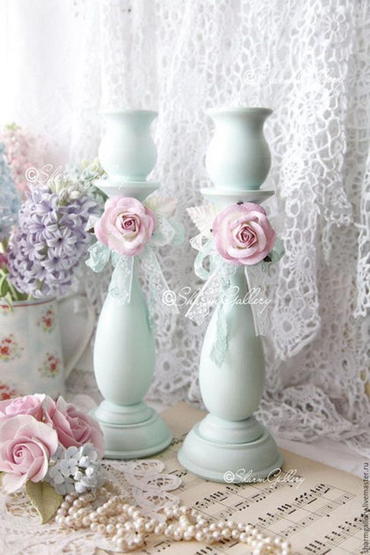 Inexpensive Shabby Chic Craft Table Ideas 1