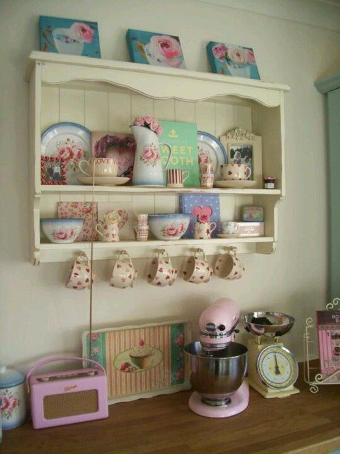 Shabby Chic Kitchen Wall Decorating Ideas 14