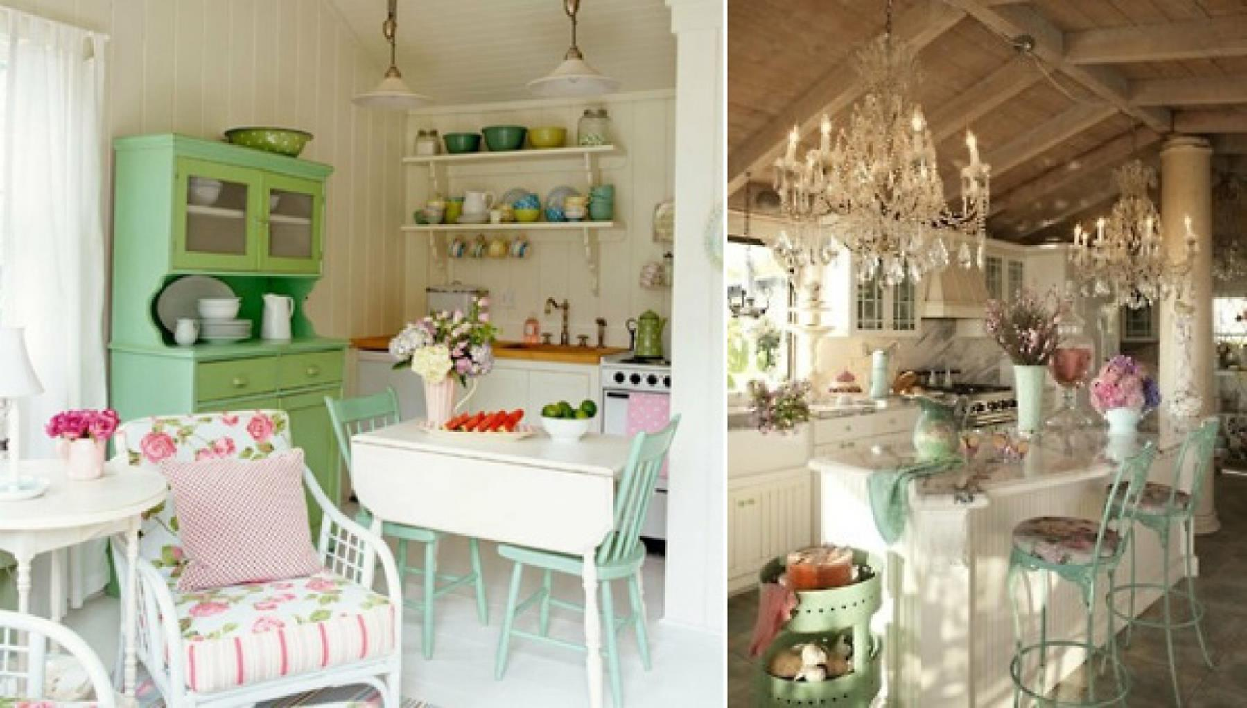 Shabby Chic Kitchen Wall Decorating Ideas 29