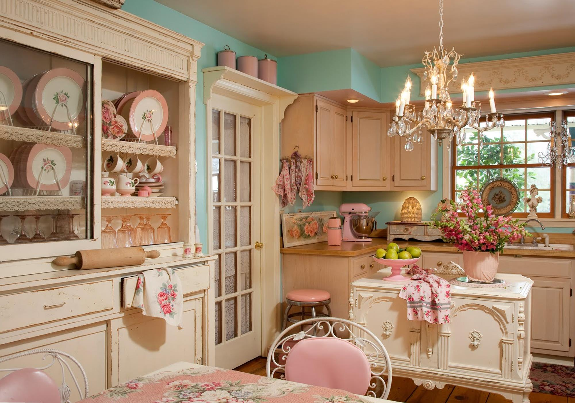 Shabby Chic Kitchen Wall Decorating Ideas 31