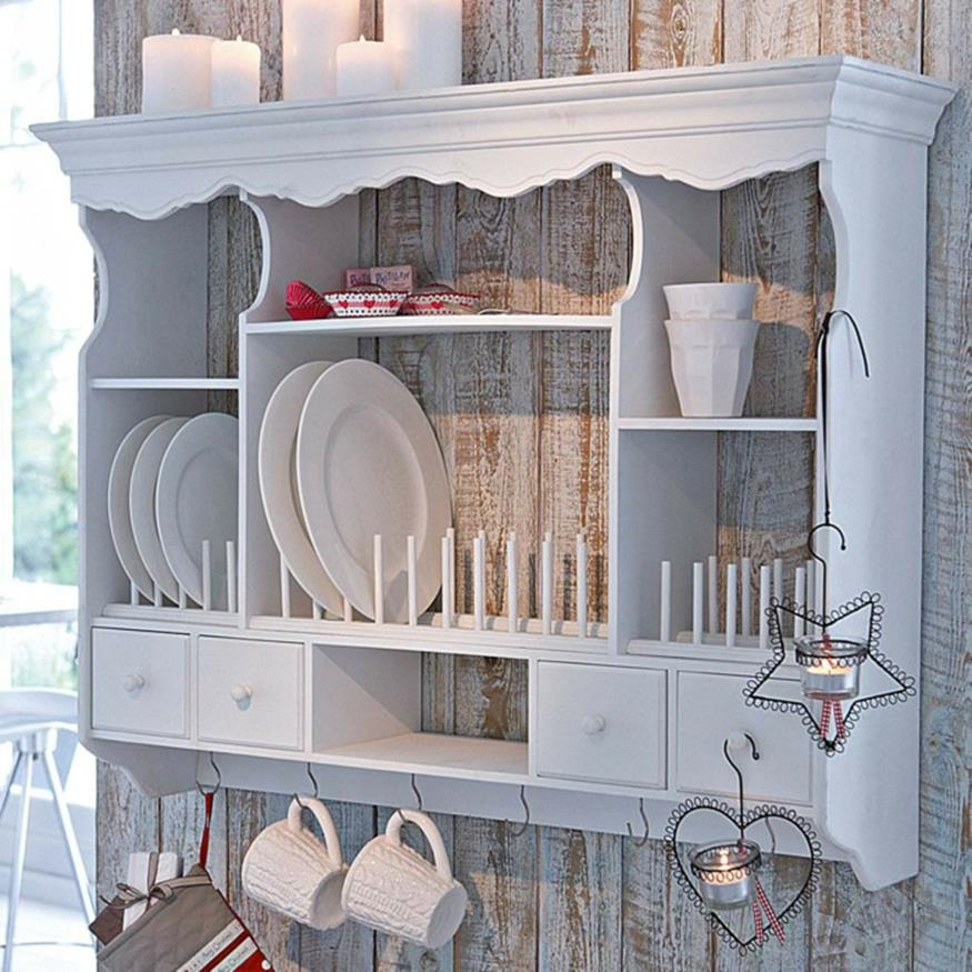 Shabby Chic Kitchen Design Ideas: Shabby Chic Kitchen Wall Decorating Ideas 32