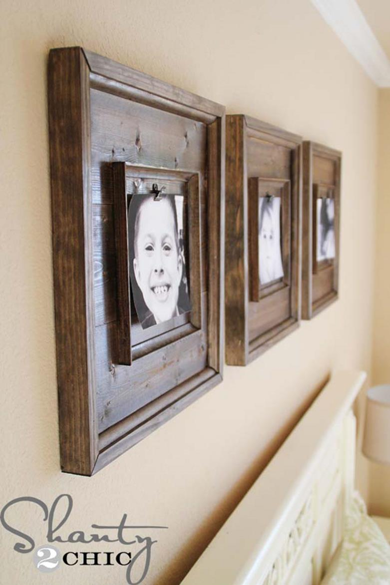 Wooden Picture Frame Decorating Ideas 24