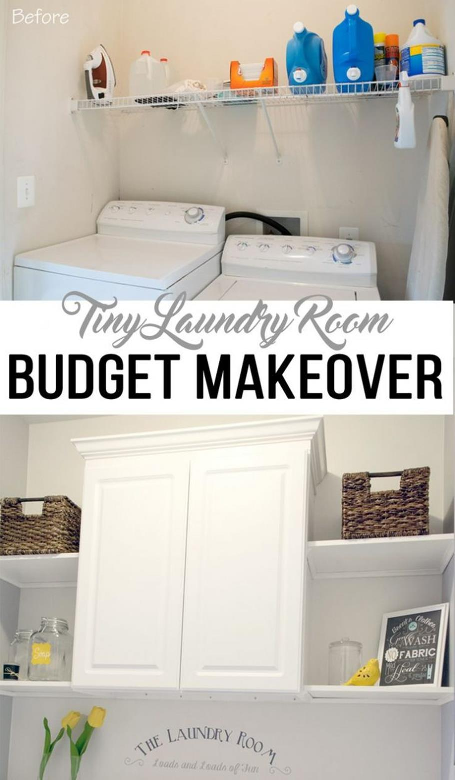 DIY Small Laundry Room Makeovers On a Budget 18