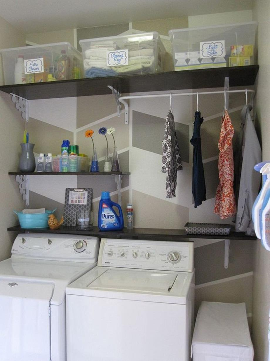 DIY Small Laundry Room Makeovers On a Budget 20