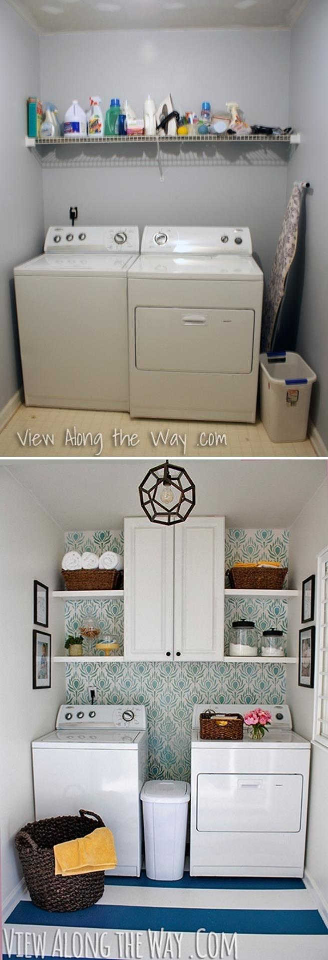 DIY Small Laundry Room Makeovers On a Budget 6