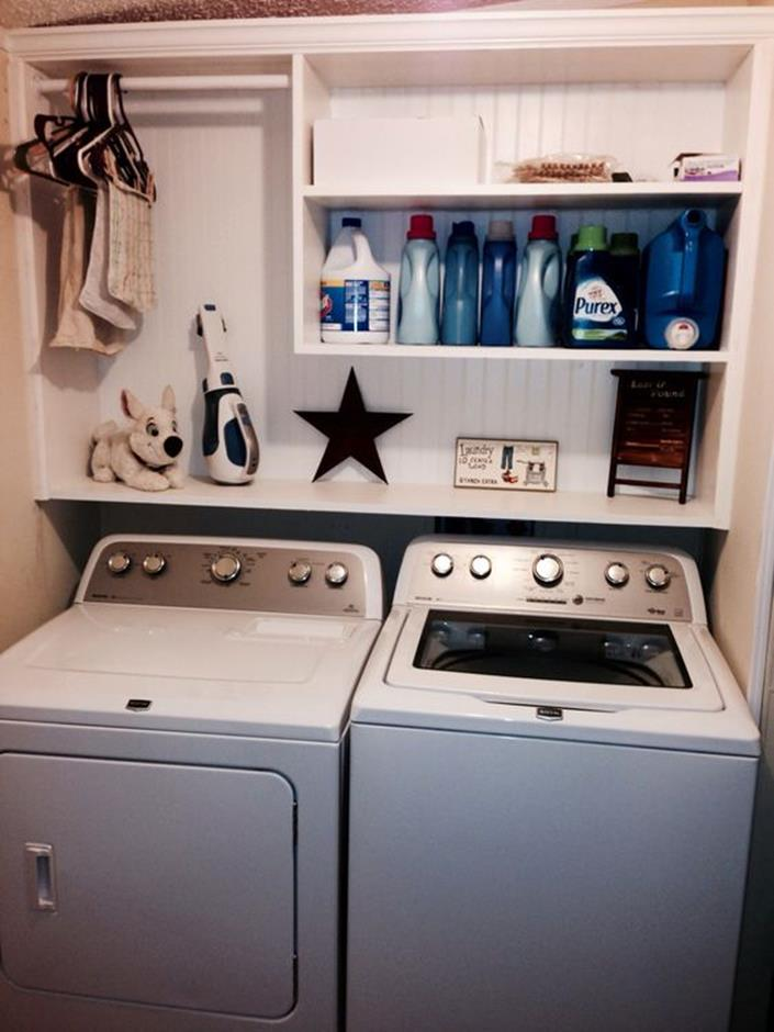 DIY Small Laundry Room Makeovers On a Budget 9