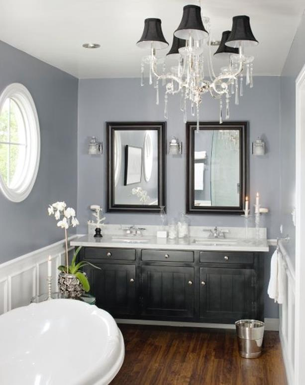 Stunning Gray Bathrooms with Accent Color Ideas 17 ...