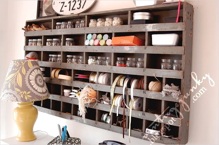 Craft Room Wall Shelving 93 Vintage Post Box Lovely Vintage Junky Craft Storage Ideas 7