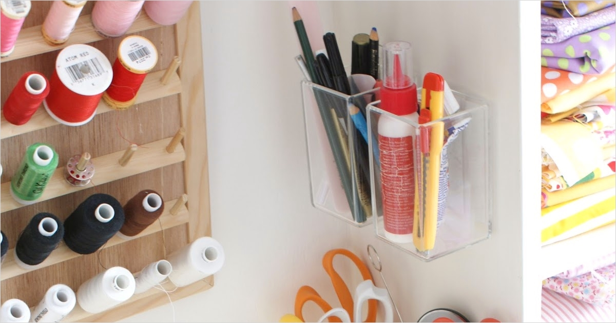 Craft Room Wall Shelving 64 Messyjesse A Quilt Blog by Jessie Fincham Craft Room Idea Wall Storage 5