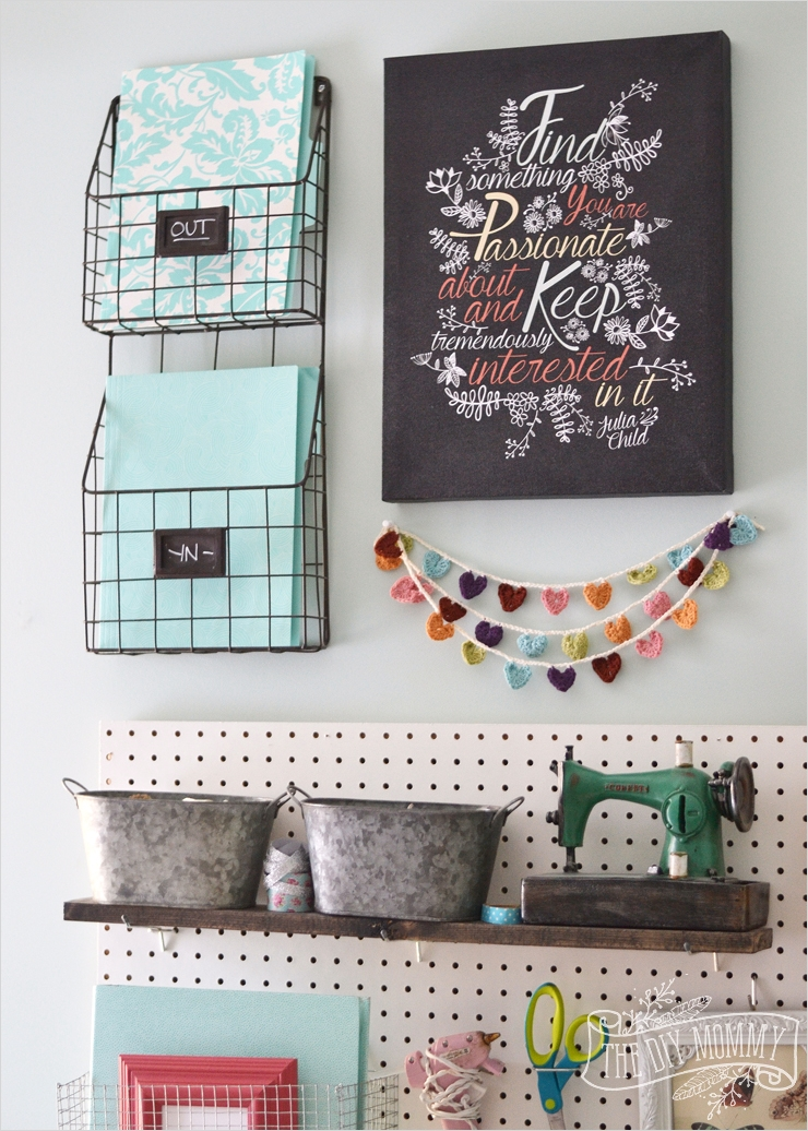 Craft Room Wall Shelving 11 A Craft Room Fice Pegboard Gallery Wall with Video tour 8