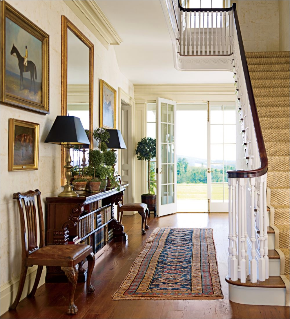 39 Stunning Farmhouse Hallway Decorating Ideas 83 Traditional Entrance Hall by G P Schafer Architect by 8