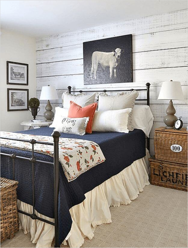43 Stunning Country Farmhouse Bedroom Ideas 11 39 Best Farmhouse Bedroom Design and Decor Ideas for 2017 7