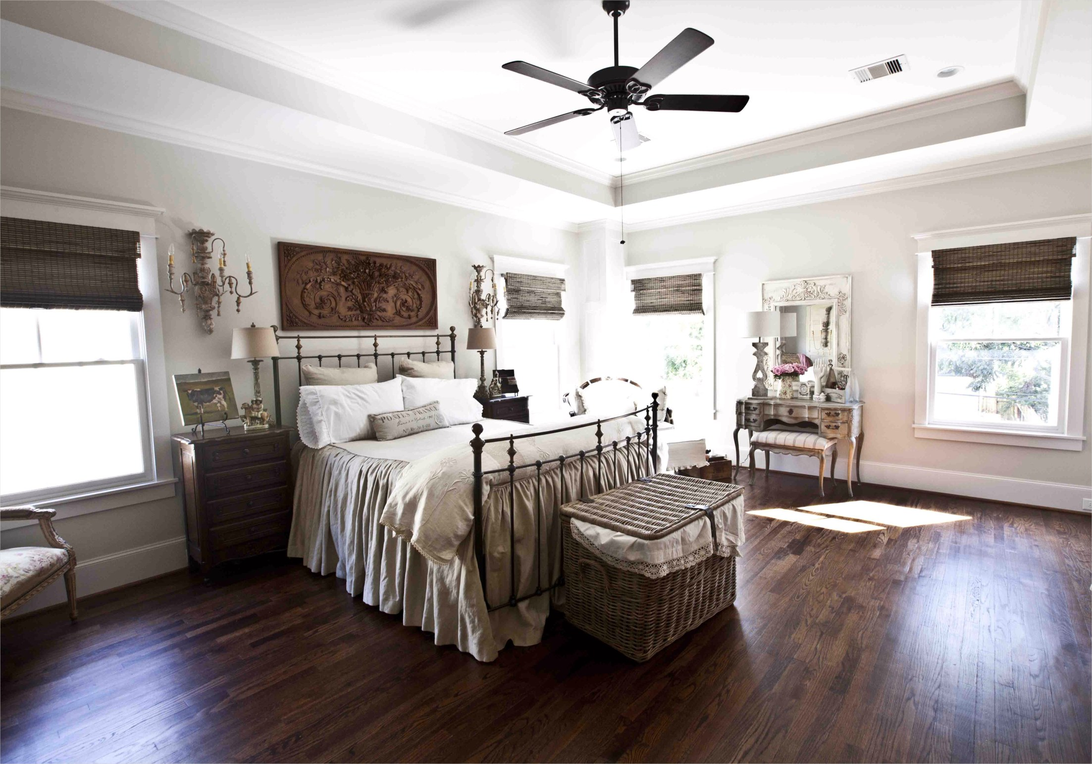 43 Stunning Country Farmhouse Bedroom Ideas 47 French Country Home tour Parade Of Homes at the Picket Fence 1