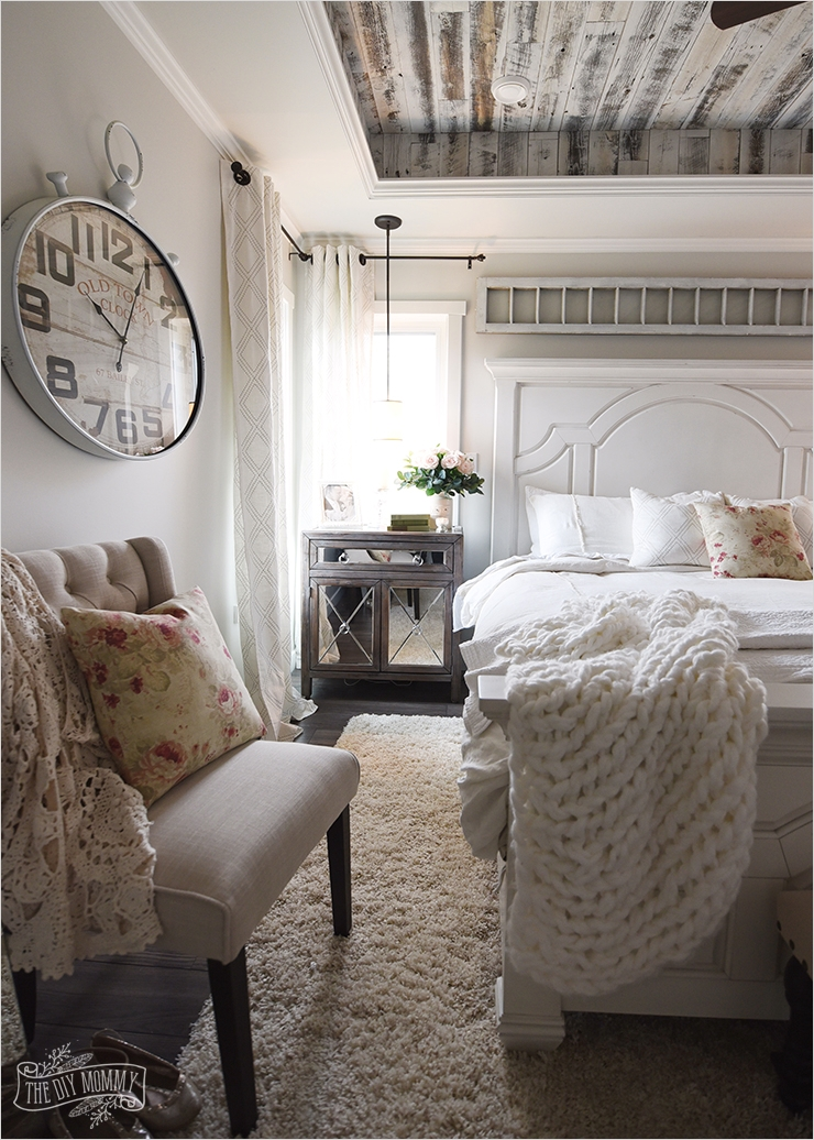 43 Stunning Country Farmhouse Bedroom Ideas 22 Our Modern French Country Master Bedroom – E Room Challenge Reveal 6