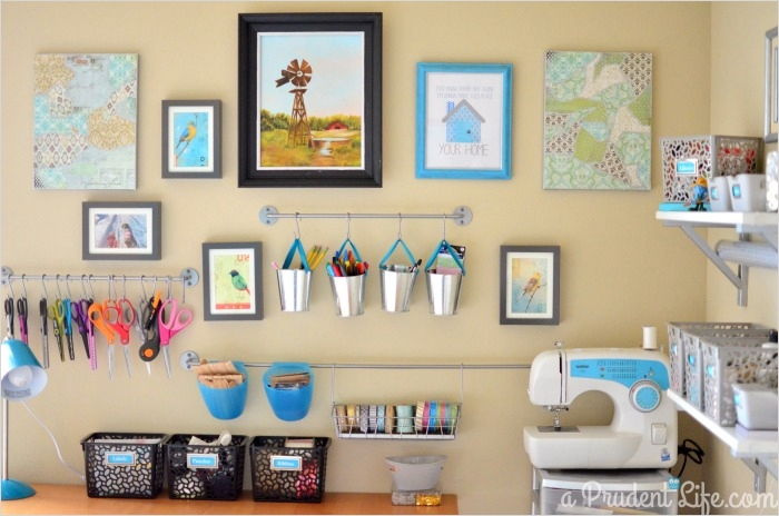 42 Amazing Diy Craft Room Gallery Wall 81 Craft Room Guest Room Bo Room Reveal Part 1 Polished Habitat 9