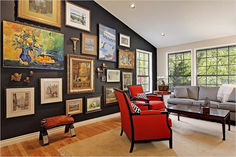 42 Amazing Diy Craft Room Gallery Wall 64 Chic Living Room Decorating Trends to Watch Out for In 2015 4