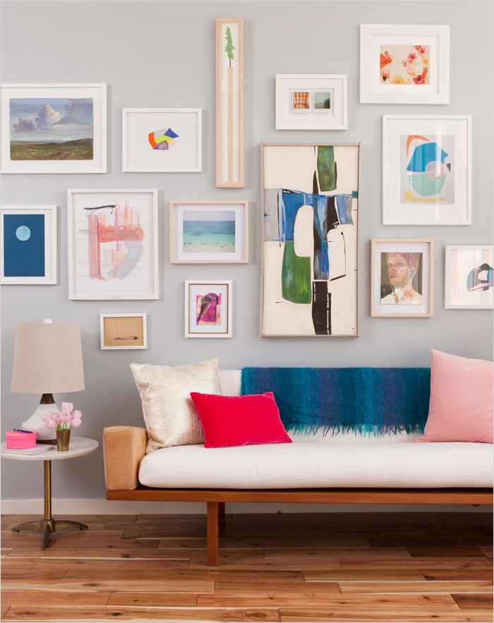 42 Amazing Diy Craft Room Gallery Wall 86 8 Tips for Hanging Art 6