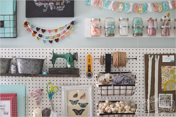 42 Amazing Diy Craft Room Gallery Wall 72 A Craft Room Fice Pegboard Gallery Wall with Video tour 9