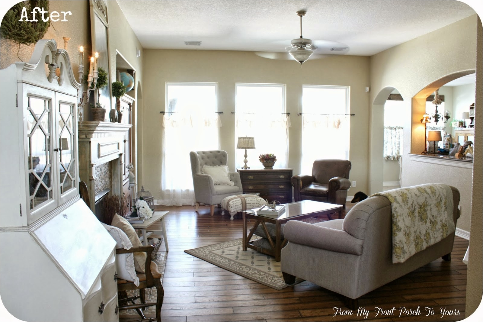 42 Cozy Country Farmhouse Living Room 95 From My Front Porch to Yours French Farmhouse Living Room Reveal 3