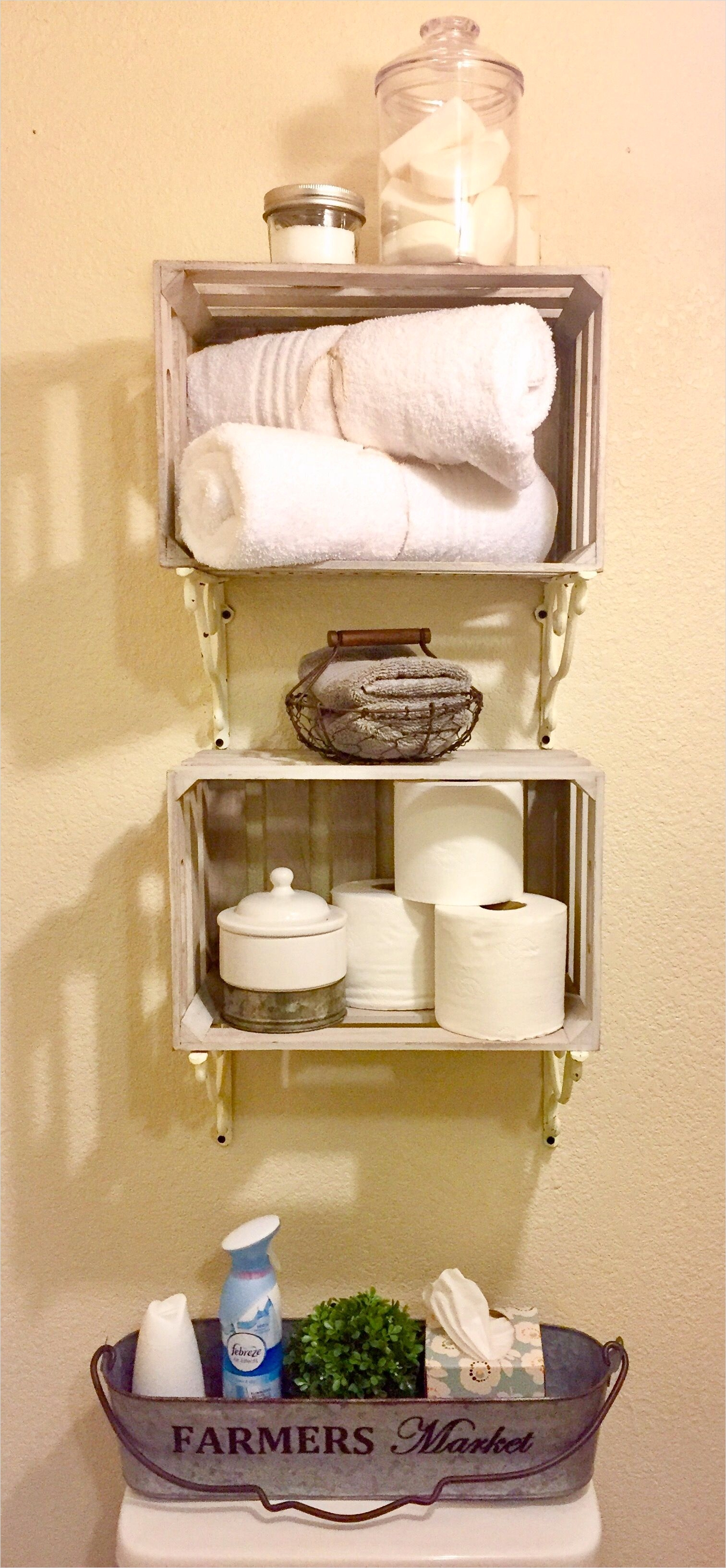 40 Stunning French Country Small Bathroom 26 French Country Farmhouse Bathroom Storage Shelves & Decor Rustic Home Decor 7